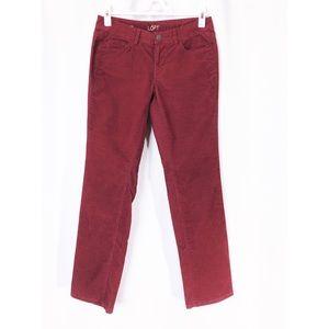 Ann Taylor LOFT Woman's Red Corduroy Pants 27 / 4P